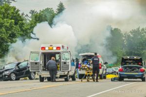 Scene of a fatal road accident. (Copyright image, Eddie Wren, 2019.)